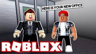 A SUBSCRIBERS MOVES INTO MY OFFICE! - ROBLOX