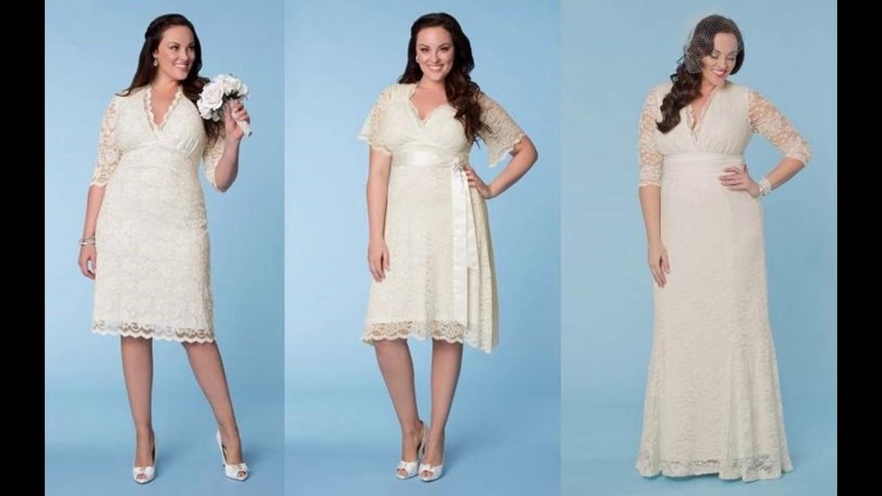 Vestidos novia civil para gorditas