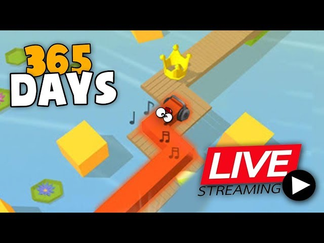 Playing Dancing Line - All Levels, Every like makes it Faster (World Record 1 YEAR)