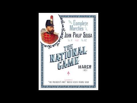 """SOUSA The National Game (1925) - """"The President's Own"""" United States Marine Band"""