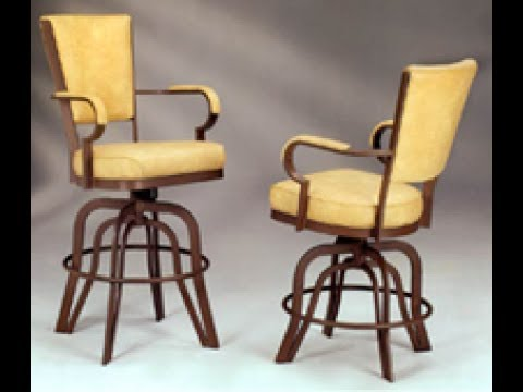 Swivel Bar Stool With Back And Arms - Swivel Bar Stool With Back And Arms - YouTube