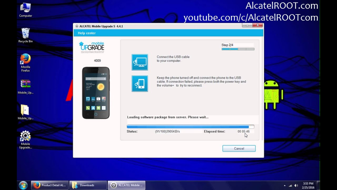 Easy install stock ROM on any Alcatel device