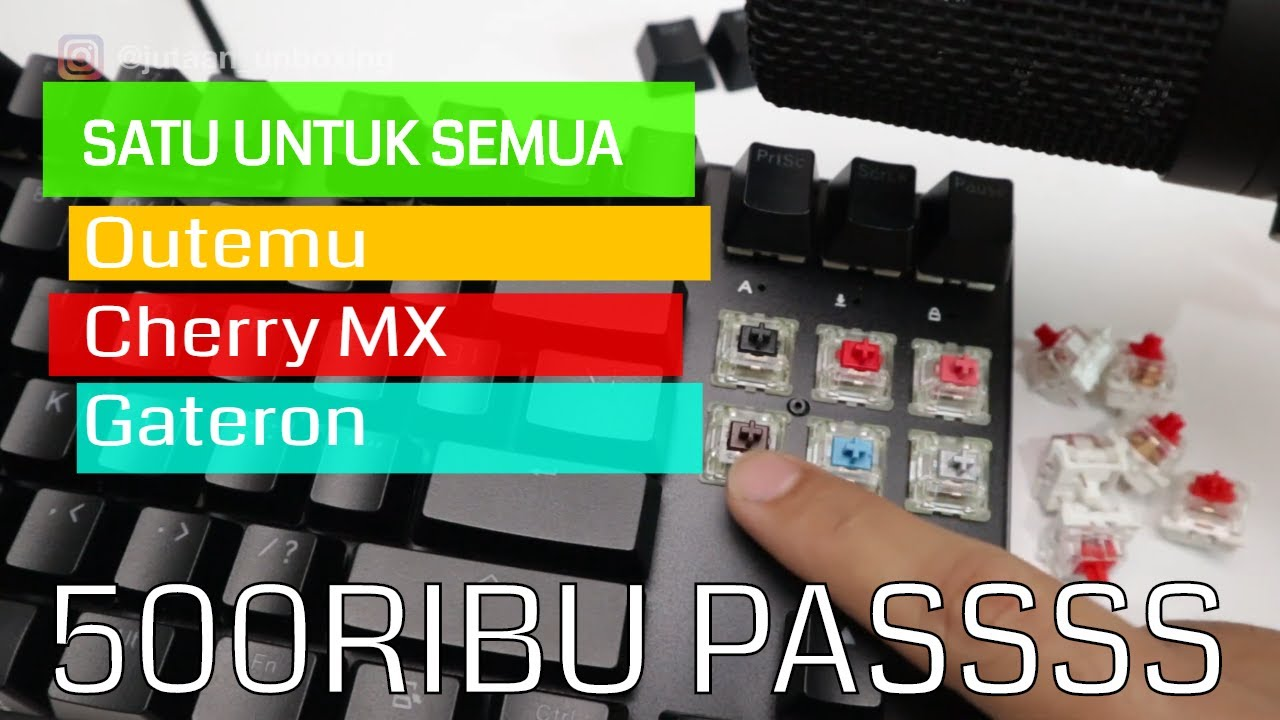 Vortex VX87 Modular Bisa Cherry MX | Sound Test Outemu dan Cherry MX
