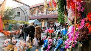 [4K]Suluhan Bazaar: 500 Year Old Shopping Center in Ankara Turkey