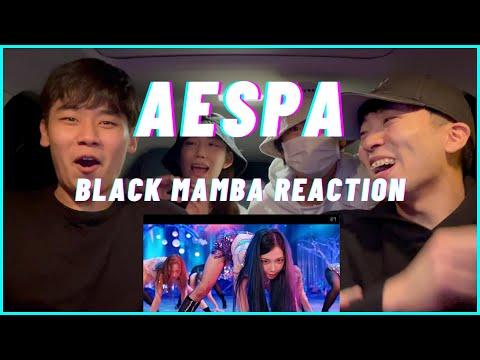 aespa 에스파 'Black Mamba' MV REACTION | omg...