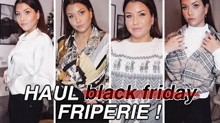 Haul ANTI Black Friday : FRIPERIE & try-on !