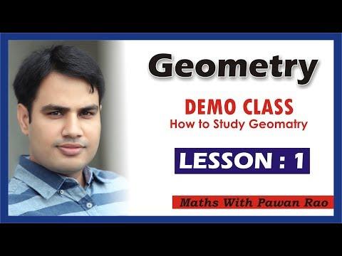 Demo Class Of GEOMETRY    By pawan rao sir   LESSON 1.