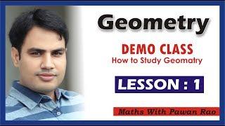 Demo Class Of GEOMETRY || By pawan rao sir|| LESSON 1.