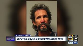 YCSO: Man admits to drinking six-pack before crashing into church