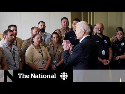 U.S. President Joe Biden visits family of collapsed Florida condo victims