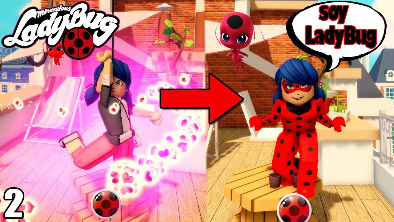 MARINETTE ES LA NUEVA LADYBUG! *CONOCERÁ A CATNOIR!!!  🐞 Miraculous: LadyBug Roblox RP 2   Suliin