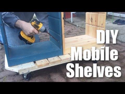 DIY Mobile Shelves