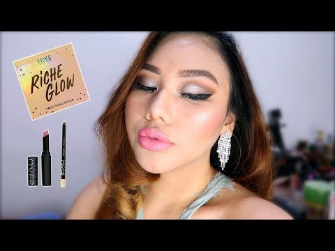 make-over-riche-glow-highlighter,-ultra-hi-matte-lipstick-&-eyeliner-review