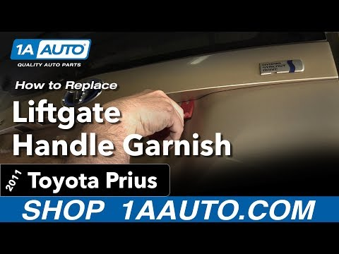 How to Replace Liftgate Handle Garnish 10-15 Toyota Prius