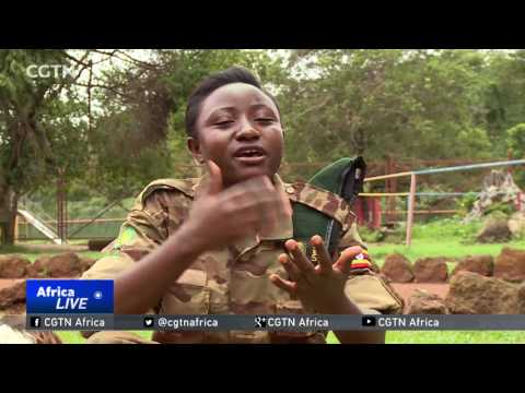 Female dog handlers help to fight illegal wildlife trade in Uganda