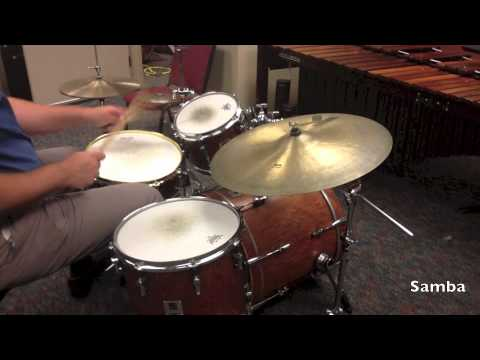 Gmea All State Jazz Band Drum Set Audition Patterns Youtube