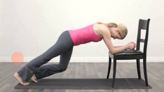 Strengthen Your Core - Low Plank On Chair.