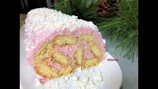 Торт ЛЕНИВОЕ ПОЛЕНО без выпечки  за 20 мин  НАХОДКА для занятых хозяюшек.