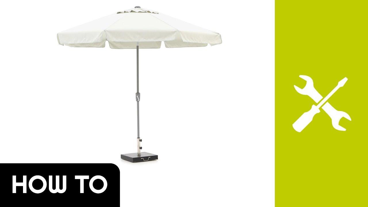How to: parasol opzetten shadowline aruba 300cm kees smit