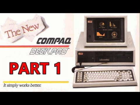 Exploring The Compaq's First Desktop Computer From 1984: The Compaq Deskpro