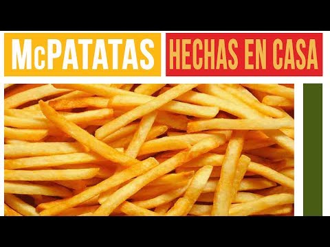 PAPAS FRITAS TIPO McDONALS - McDONALDS FRENCH FRIES [English subtitled]