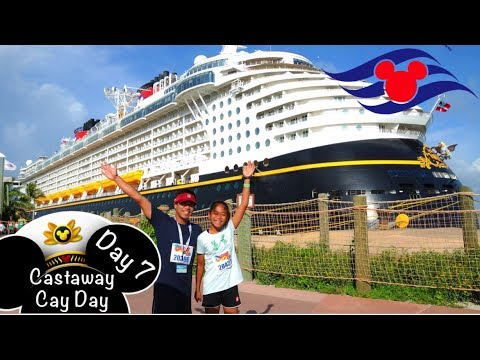 Disney Cruise Line Fantasy (DAY 7) 🏝 Castaway Cay | FASTEST 5K Island Runner 🏃🏽♀️💨