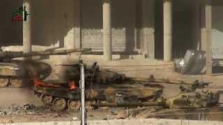 Боевые действия танков в городе.(Война в Сирии.Т 72.горящий танк, как поджигают танки., 2013-10-05T11:18:37.000Z)