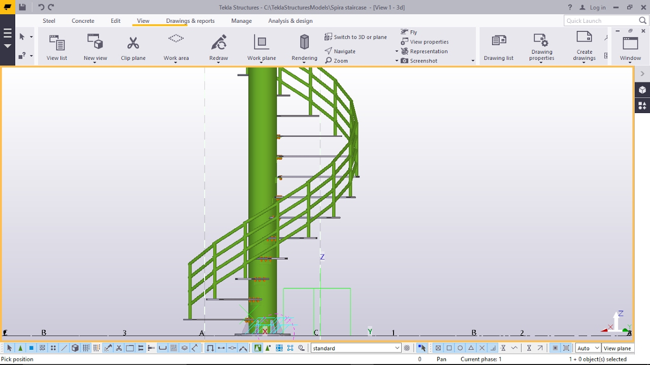 how to create spiral staircase manually in tekla structures youtube rh youtube com Tekla Commands Tekla Commands