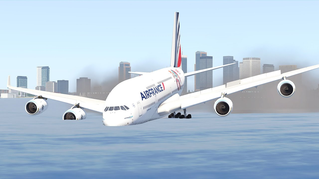 Airbus A380 Emergency Landing On Water | Xplane 11
