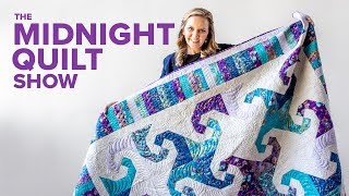 Snail's Trail Quilt with Free Pattern   S7E2 Midnight Quilt Show with Angela Walters
