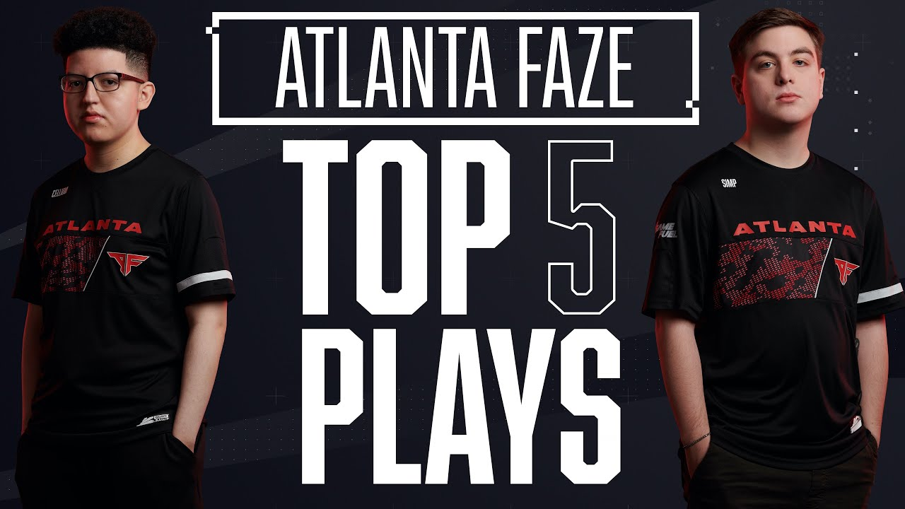Cellium REFUSES TO DIE vs Huntsmen & Simp Kills FIFTY — Top 5 @Atlanta FaZe Plays of 2020