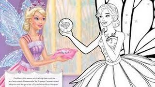 BARBIE Coloring Book Kids Coloring Pages Barbie Mariposa and the Fairy Princess
