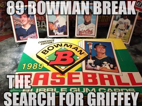 0dee810746 89 Bowman Wax Box Break: Griffey Rookie? - YouTube