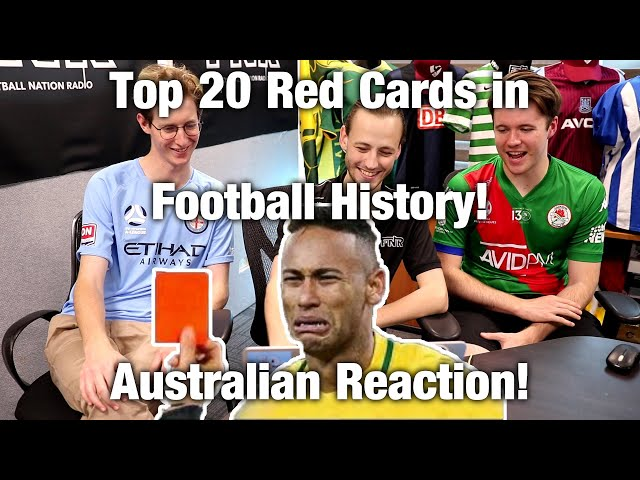 Top 20 Famous Red Cards in Football (Soccer) History | Australian Reaction