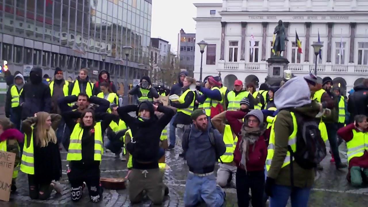 Gilets Jaunes Liège - rond point Opéra - 5 janvier 2019
