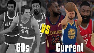 1960S NBA Players vs Current NBA Players! | NBA 2K18 Gameplay |