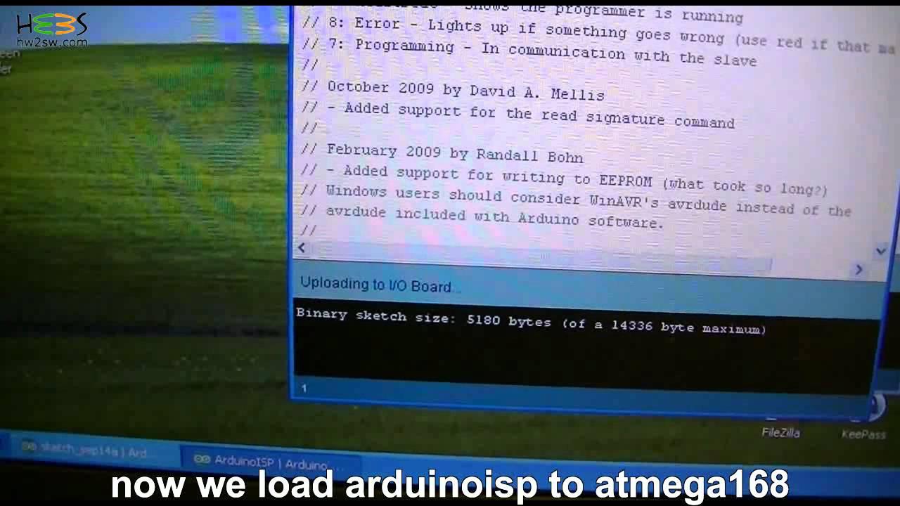 Burn bootloader using arduino as isp youtube