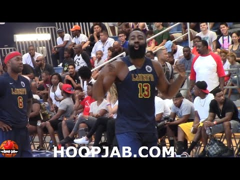 James Harden DOMINATES Drew League Game 42 Pts , 6 reb. 4 ast. & 3 steals.Playoff Highlights HoopJab
