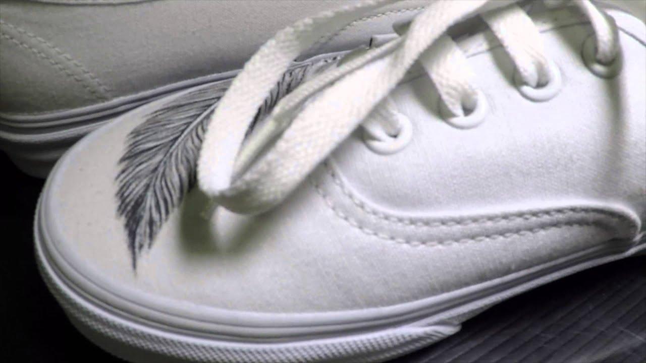 Scarpe Vans Personalizzate Piume – Scarpe Personalizzate