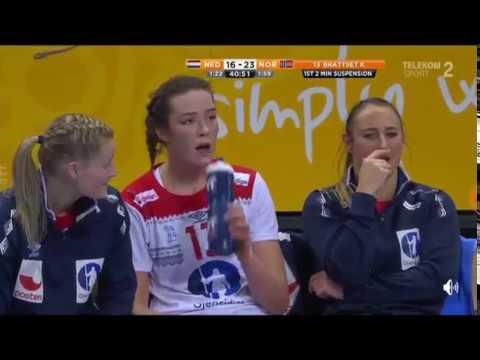 Holland - Norway second half women handball Germany 2017