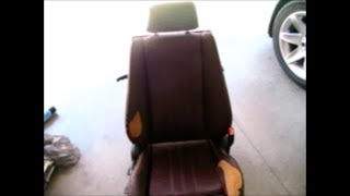BMW E30 Sport Seat Disassembly