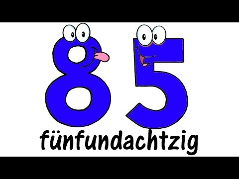 ♫ GERMAN Numbers 1-100 ♫ Big Numbers Song ♫ Deutsche Zahlen von 1 bis 100 ♫ Zahlenlied ♫