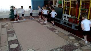 Підготовча частина заняття з фізичного виховання в середній групі