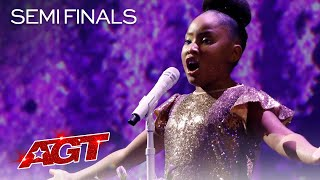 """9-Year-Old Victory Brinker Sings a BEAUTIFUL Rendition of """"Nessun Dorma"""" - America's Got Talent 2021"""