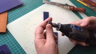 Обработка края изделия из кожи - быстрый способ