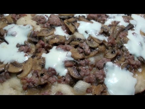 Recipe: How to Make Pizza With Sausages and Mushrooms
