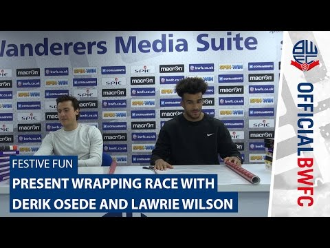 FESTIVE FUN | Present wrapping race with Derik Osede and Lawrie Wilson