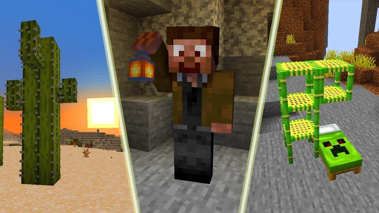 Nowy Genialny Wyglad Minecraft 1 14 Piekne Kaktusy Swietna Lampa