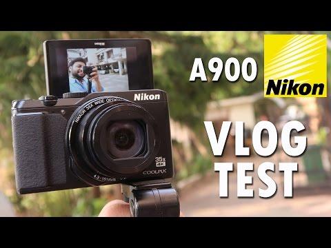 Nikon Coolpix A900 Digital Camera VLOG STYLE CAMERA TEST [4K]