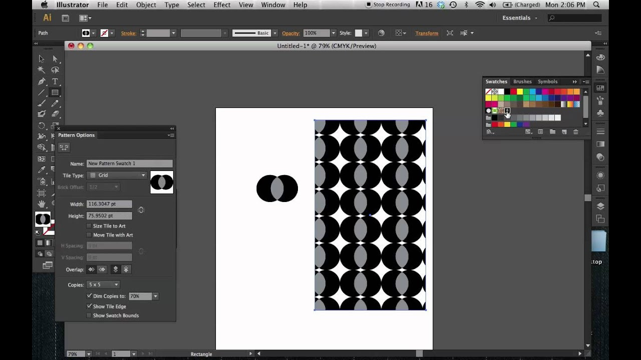 how to make a repeating pattern in photoshop cs6